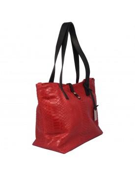 Shopper in Vera Pelle Stampa Pitone - Cresy