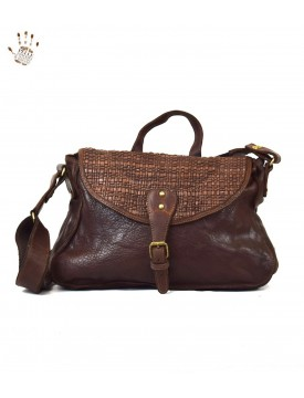 Vegetable Tanned Leather Woman Bag Medium Braiding - Irene