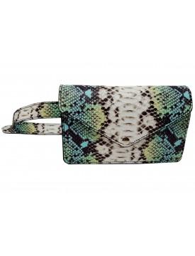 Genuine Leather Python Printed Clutch Bag  - Nura