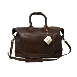 Genuine Leather Weekend Travel Bag - Janette