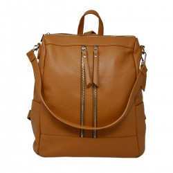 DLB - Genuine Leather Multifunctional Shoulder Bag Backpack - Erna - Tuscan Leather Goods