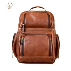DLB - Travel Backpack in Genuine Vegetable Tanned Leather - Daniel
