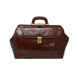 DLB - Genuine Leather Doctor Bag with Front Pocket - Lilo