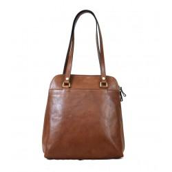 Vegetable Tanned Leather Shoulder Bag and Backpack - Arena
