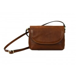 Crossbody Bag in Genuine Vegetable Tanned Leather - Cassie
