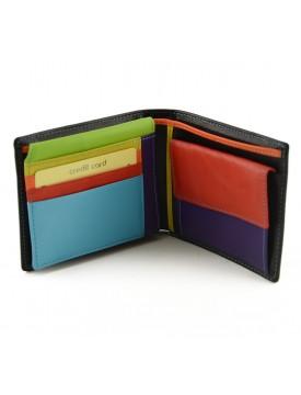 Portafoglio per Uomo in Vera Pelle, Interno multicolor - Rainbow
