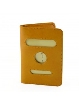 Porta Passaporto in Vera Pelle, 2 tasche interne per carte di credito - Kerou