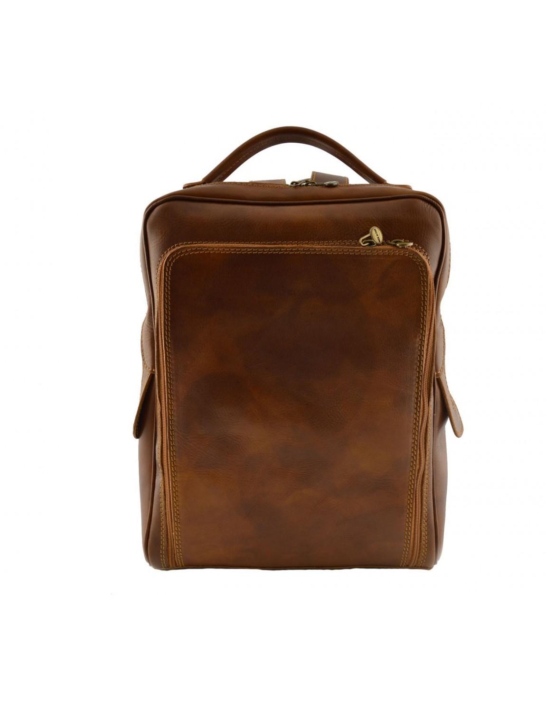 sac dos en cuir v ritable pour homme avec poche frontale rectan. Black Bedroom Furniture Sets. Home Design Ideas