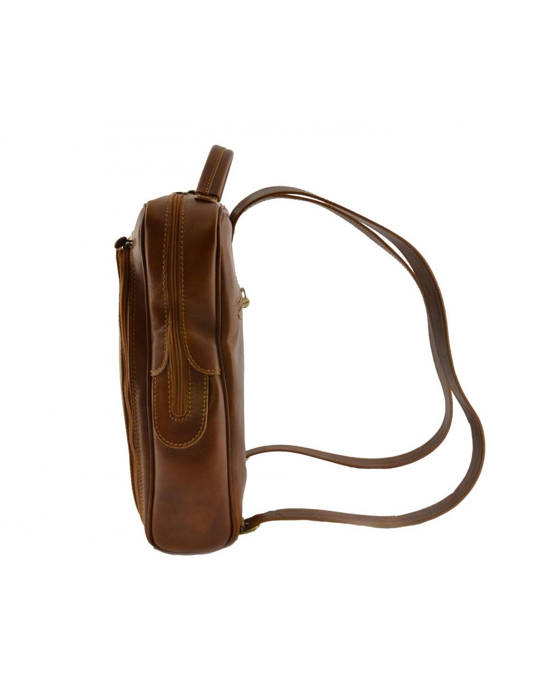 sac dos en cuir v ritable pour homme avec poche frontale. Black Bedroom Furniture Sets. Home Design Ideas