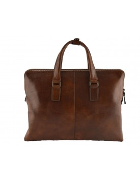 Genuine Leather A4 Briefcase with 2 compartments - Abbad