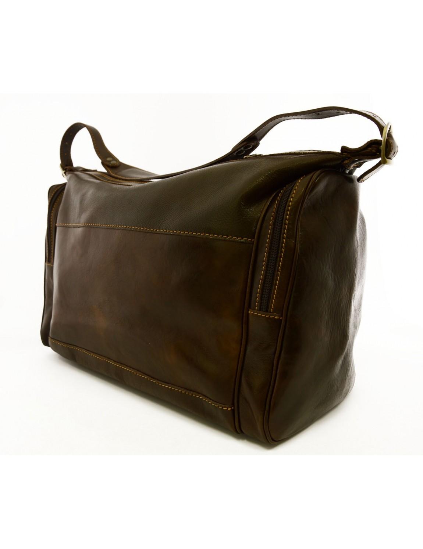 Genuine Leather Travel Bag 2 Side Pockets Kylan