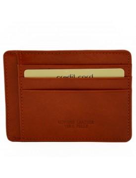 Porta Carte di Credito in Vera Pelle 9 Scomparti - Renno