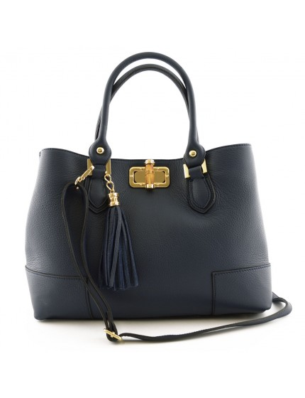 Woman Handbag with Leather Tassel - Janet