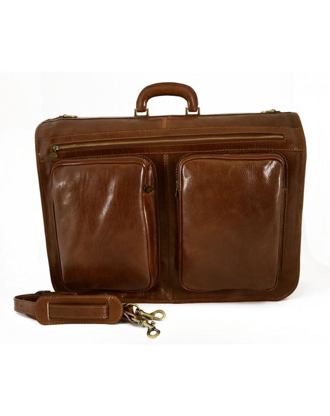 Leder Kleidersack - 2 Garderobenhaken - Ebisu