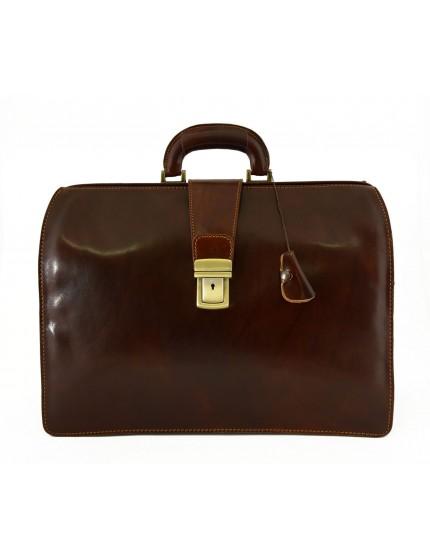 Business und Arzttasche aus echtem Leder mit 3 Fächern - Tiko