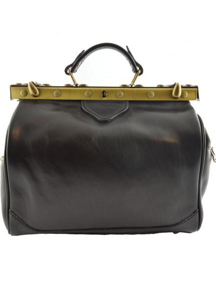 Leder Arzttasche, 2 Seitentaschen - Fenice