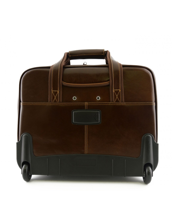 leder business trolley mit 3 f chern ron. Black Bedroom Furniture Sets. Home Design Ideas