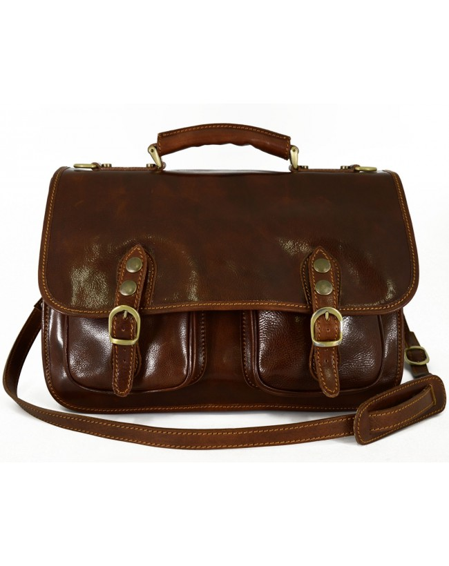 Business Briefcase in Genuine Leather 2 compartments - Win