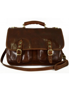 Business Briefcase in Genuine Leather 2 compartments mod. Small - Win