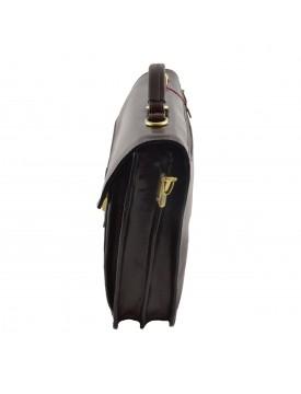 Cartella Business in Vera Pelle 2 Scomparti 2 Tasche Frontali - Okido