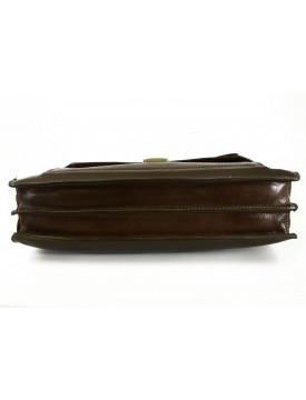 Cartella Professionale in Vera Pelle 2 Scomparti Tasca Frontale - Bond