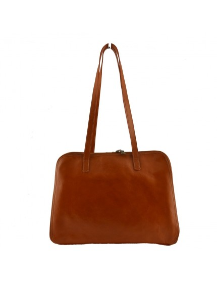 Genuine Leather Shoulder Bag 3 Compartments - Victoria