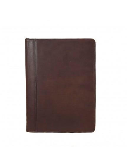 Porta Documenti A4 in Vera Pelle con Scomparti Interni - Bradley