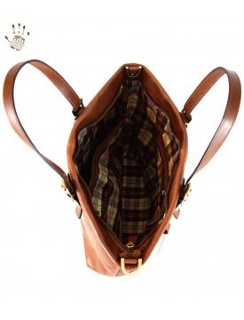 Shopper Donna in Vera Pelle con Tasche Interne – Butterfly
