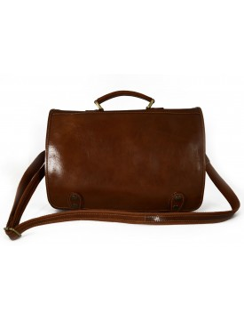 Business Briefcase in Genuine Leather with inside pockets - Finny