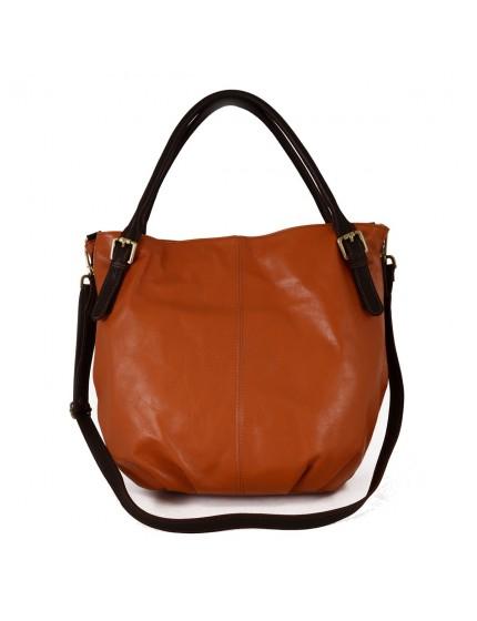 Leather Shoulder Bag - Jhoanna