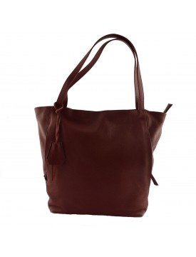 Genuine Leather Shopper Bag - Ani
