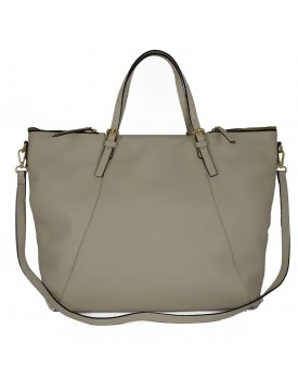 Shopper in Vera Pelle con Tasche Laterali - Erika