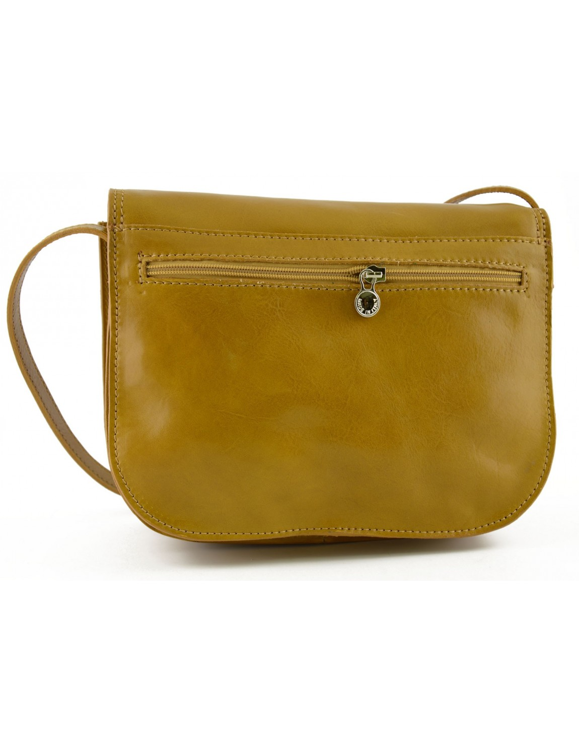 Woman Genuine Leather Shoulder Bag with 3 compartments - Annie