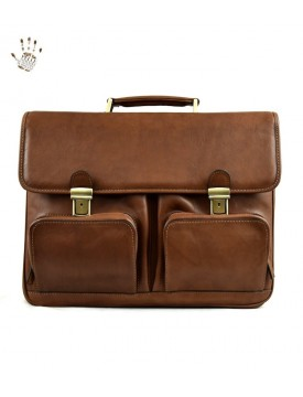 Vegetable Tanned Leather Business Bag - Arturo