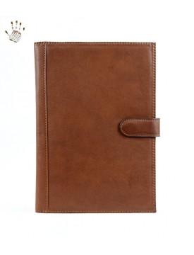 Porte documents en cuir au tannage v g tal avec fermeture magn tique fiona - Fermeture magnetique porte ...