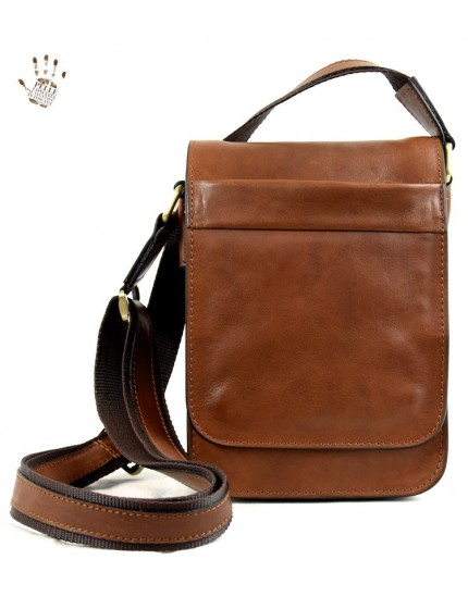 Tanned Leather Man Bag - Pepper