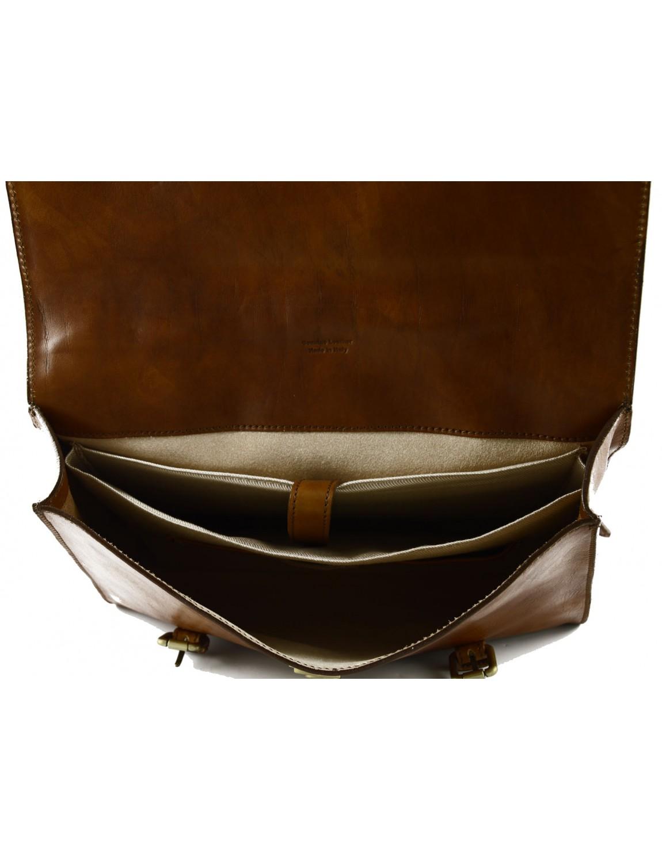 cartable en cuir au tannage v g tal lala. Black Bedroom Furniture Sets. Home Design Ideas
