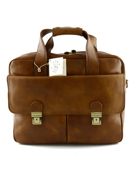 Cartella Business Laptop in Pelle Conciata al Vegetale - Tilletve