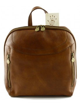 Vegetable Tanned Leather Backpack - Fefe