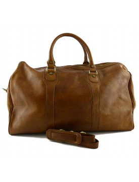 Vegetable Tanned Leather Travel Bag - Sheilave