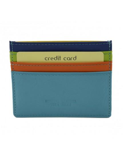 Porta Carte di Credito Multicolor in Vera Pelle - Lismu