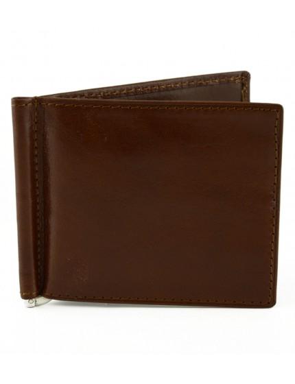 Portafogli in Pelle con Clip Banconote - Franco