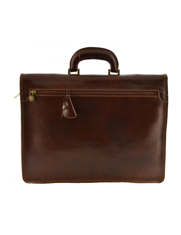 Leather Business Bag- Agneta