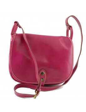 Woman Leather Shoulder Bag - Ade