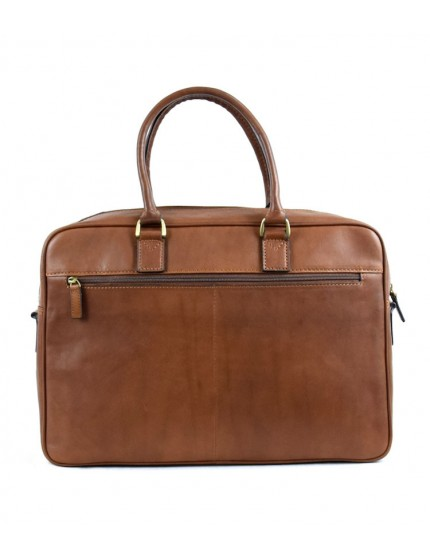 Vegetable Tanned Leather Business Bag - Lou