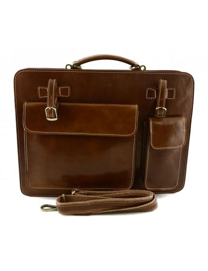 Genuine Leather Business Bag mod. Large - Poni