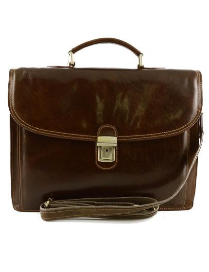 Genuine Leather Business Bag - Lafe