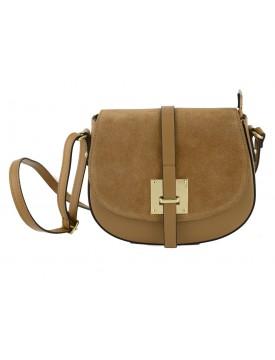 Genuine Leather Shoulder Bag - Maria