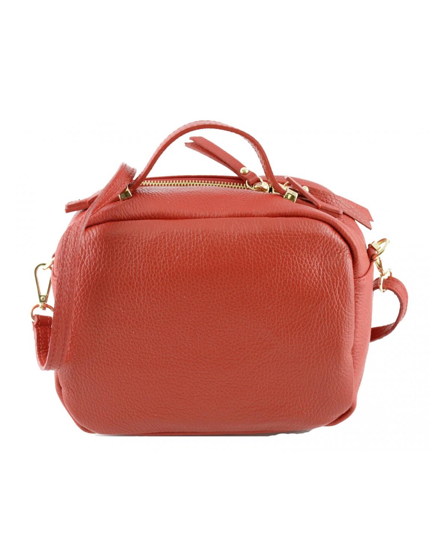 Vera Pelle en cuir italien véritable Petit Mini Bandoulière Sac à main - Rouge - RED Liquidation Usine YsPPwG3b8,