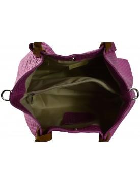 Borsa a Spalla in Vera Pelle - Lavender